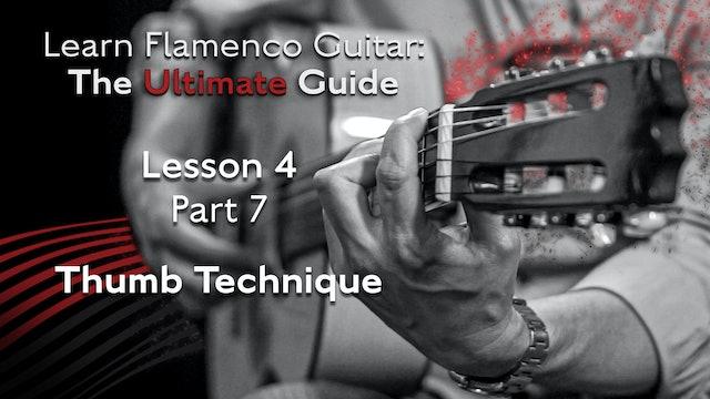 Lesson 4 - Part 7 - Thumb Technique