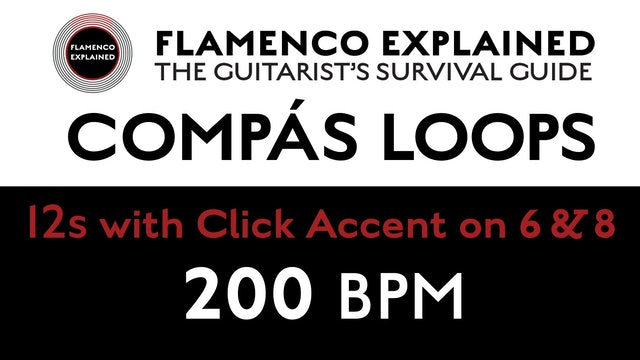 Compás Loops - 12s - With Click Accent on 6 & 8 - 200 BPM