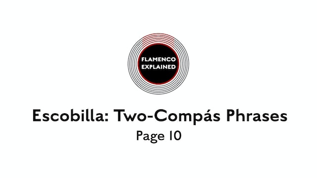 Solea Escobilla Two-Compas Phrases Page 10