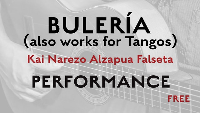 Friday Falseta - Buleria Alzapua - Kai Narezo Falseta Performance