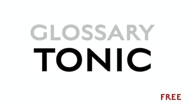 Tonic - Glossary Term