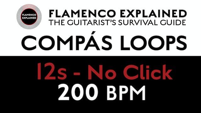 Compás Loops - 12s No Click 200 BPM