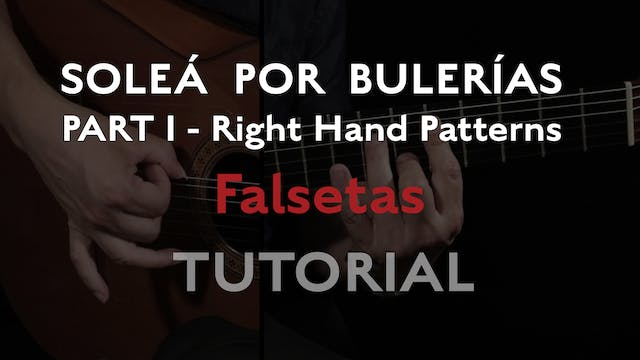 Solea Por Bulerias Right Hand Pattern...