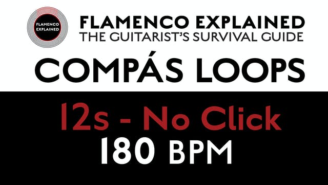 Compás Loops - 12s No Click 180 BPM