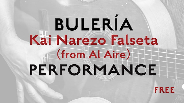 Friday Falseta - Buleria - Kai Narezo Falseta (from Al Aire) - Performance