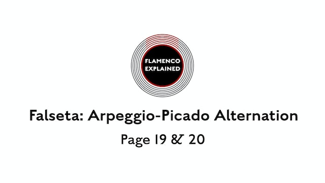 Solea Falseta Arpeggio Picado Alt. Pages 19 & 20