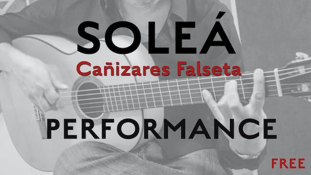 Friday Falseta - Cañizares Solea Fals...