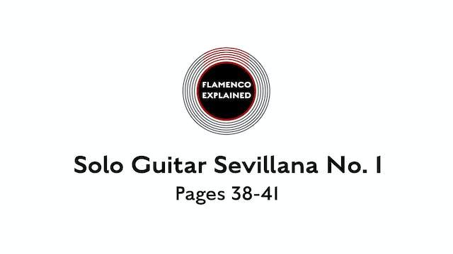 Solo Guitar Sevillana No. 1 Pages 38-41