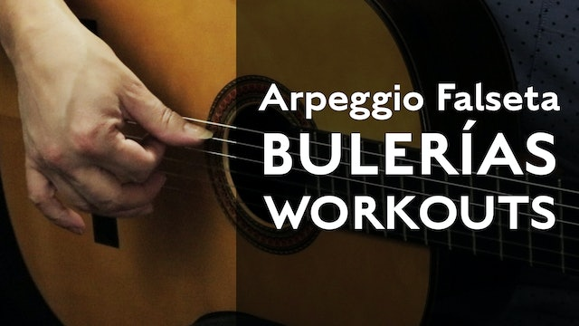 Arpeggio Falseta Workout (Bulerias) - Tutorial