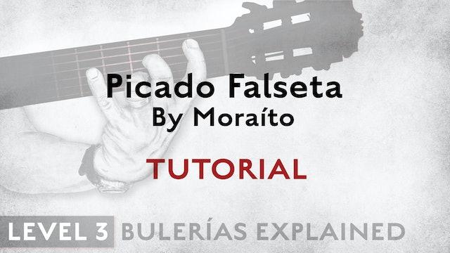 Bulerias Explained - Level 3 - Picado Falseta by Moraíto - TUTORIAL