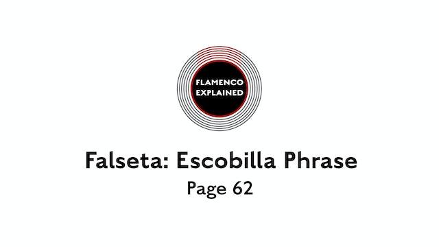 Alegrias Falseta: Escobilla Phrase Page 62