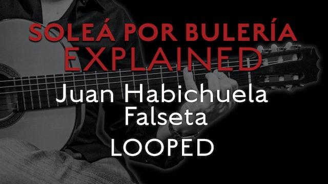 Solea Por Bulerias Explained - Juan Habichuela Falseta - LOOPED