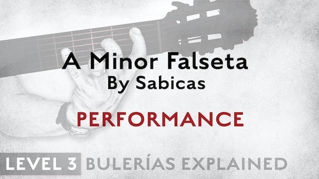 Bulerias Explained - Level 3 - A Minor Falseta by Sabicas - PERFORMANCE