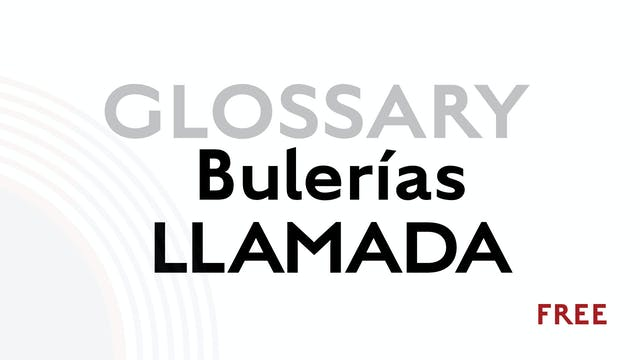 Llamada for Buleria - Glossary Term