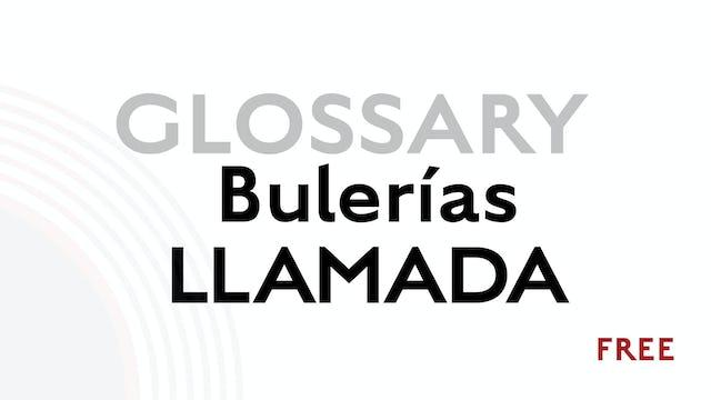Llamada for Buleria - Glossary Term