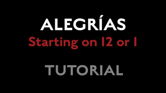 Alegrias - Starting on 12 or 1s - Tutorial