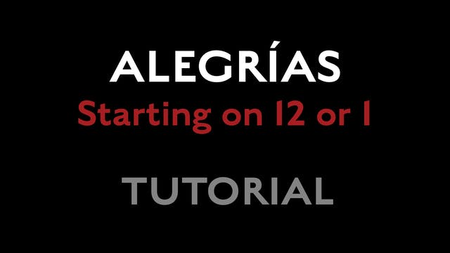 Alegrias - Starting on 12 or 1s - Tut...