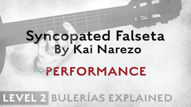 Bulerias Explained - Level 2 - Syncopated Falseta by Kai Narezo - PERFORMANCE