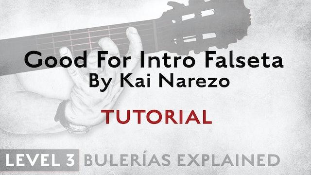 Bulerias Explained - Level 3 - Good For Intro Falseta by Kai Narezo - TUTORIAL