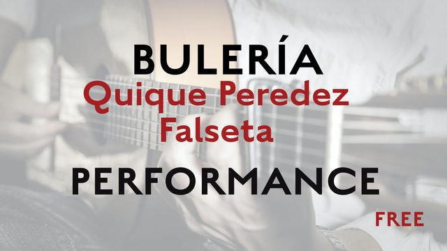 Friday Falseta - Bulerias falseta by Quique Peredez - Performance