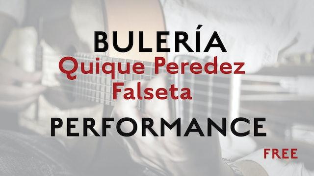 Friday Falseta - Bulerias falseta by Quique Paredes - Performance
