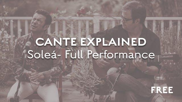 Cante Explained - Soleá - Complete Pe...