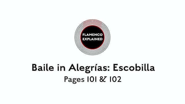 Alegrias Escobilla Pages 101 & 102
