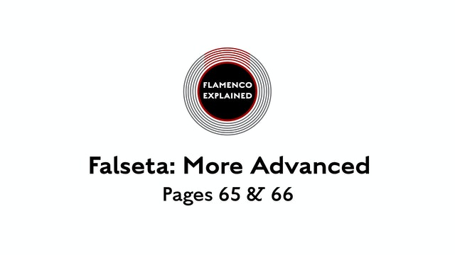 Alegrias More Advanced Falseta Pages 65 & 66
