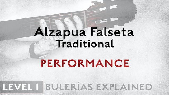 Bulerias Explained - Level 1 - Alzapua Falseta Traditional - PERFORMANCE
