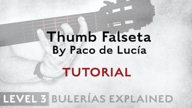 Bulerias Explained - Level 3 - Thumb Falseta by Paco de Lucia - TUTORIAL