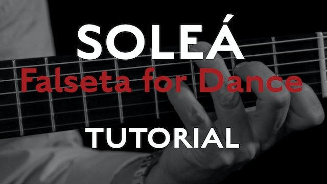 Friday Falseta - Solea Falseta for Dance - Tutorial