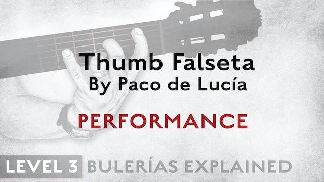 Bulerias Explained - Level 3 - Thumb Falseta by Paco de Lucia - PERFORMANCE