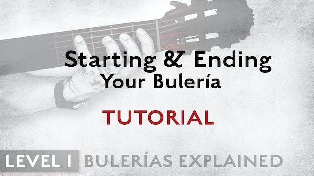 Bulerias Explained - Level 1 - Starting & Ending Your Bulería - TUTORIAL