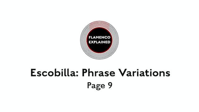 Solea Escobilla Phrase Variations Page 9