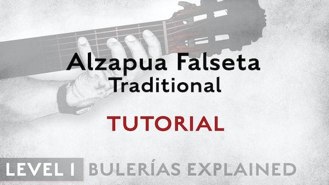 Bulerias Explained - Level 1 - Alzapua Falseta Traditional - TUTORIAL