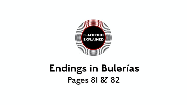 Bulerias Endings pages 81 & 82