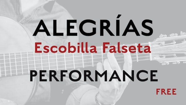 Friday Falseta - Alegrias Escobilla Falseta - Performance - Free