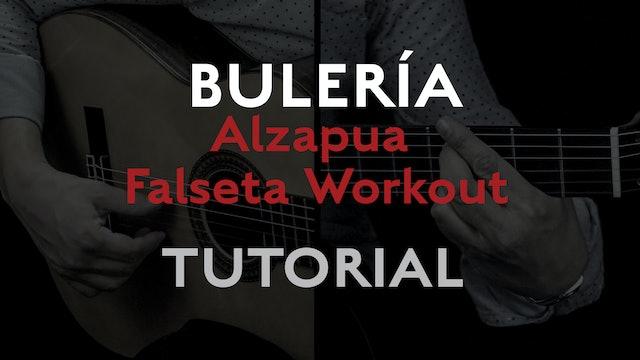 Alzapua Falseta Workout (Buleria) - Tutorial
