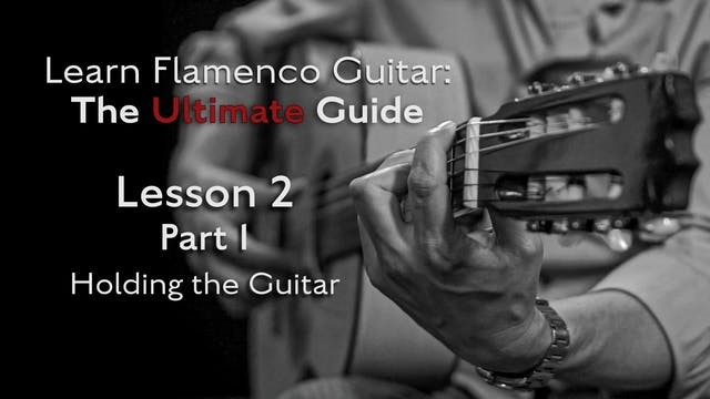 Lesson 2 - Part 1 - Holding the Guitar