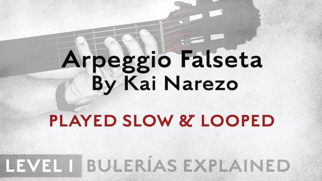 Bulerias Explained - Level 1 - Arpeggio Falseta by Kai Narezo - SLOW & LOOPED