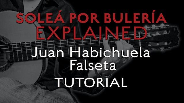 Solea Por Bulerias Explained - Juan Habichuela Falseta - TUTORIAL