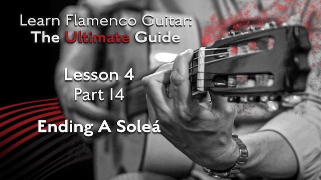 Lesson 4 - Part 14 - Ending A Soleá