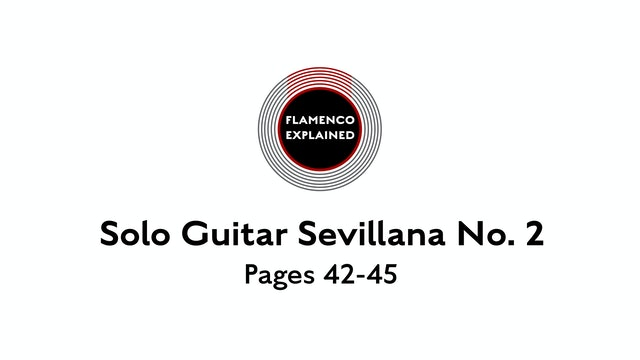 Solo Guitar Sevillana No. 2 Pages 42-45