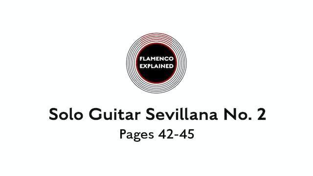 Solo Guitar Sevillana No. 2 Pages 42-45