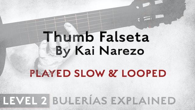 Bulerias Explained - Level 2 - Thumb Falseta by Kai Narezo - SLOW & LOOPED