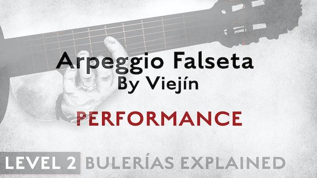 Bulerias Explained - Level 2 - Arpeggio Falseta by Viejín - PERFORMANCE