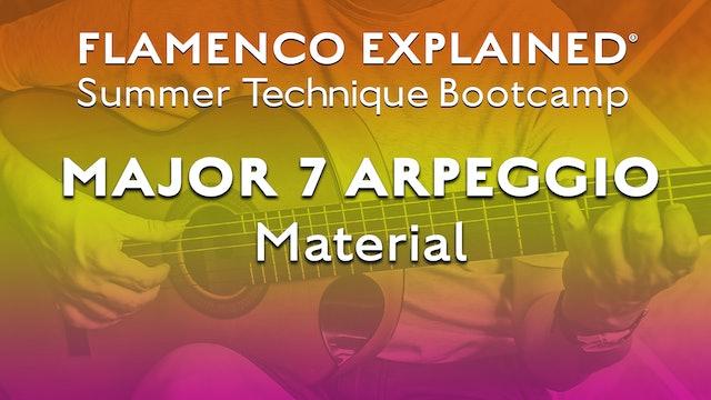 Technique Bootcamp - Major 7 Arpeggio Material