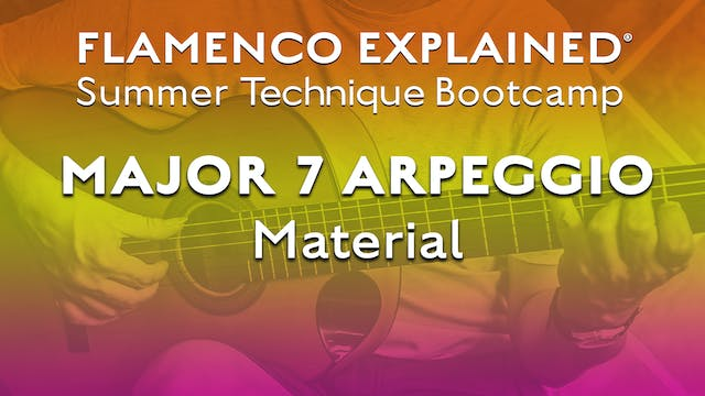 Technique Bootcamp - Major 7 Arpeggio...