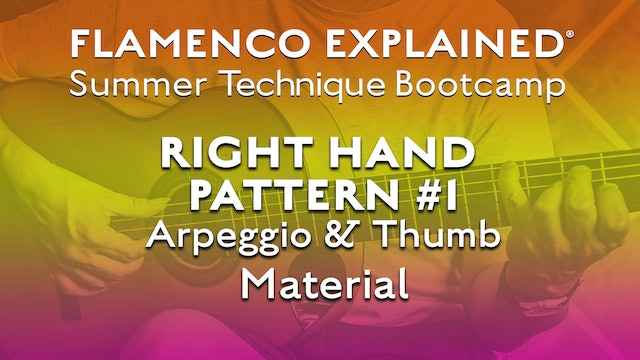 Technique Bootcamp - Right Hand Pattern #1 - Arpeggio and Thumb Material
