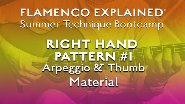 Technique Bootcamp - Right Hand Patte...